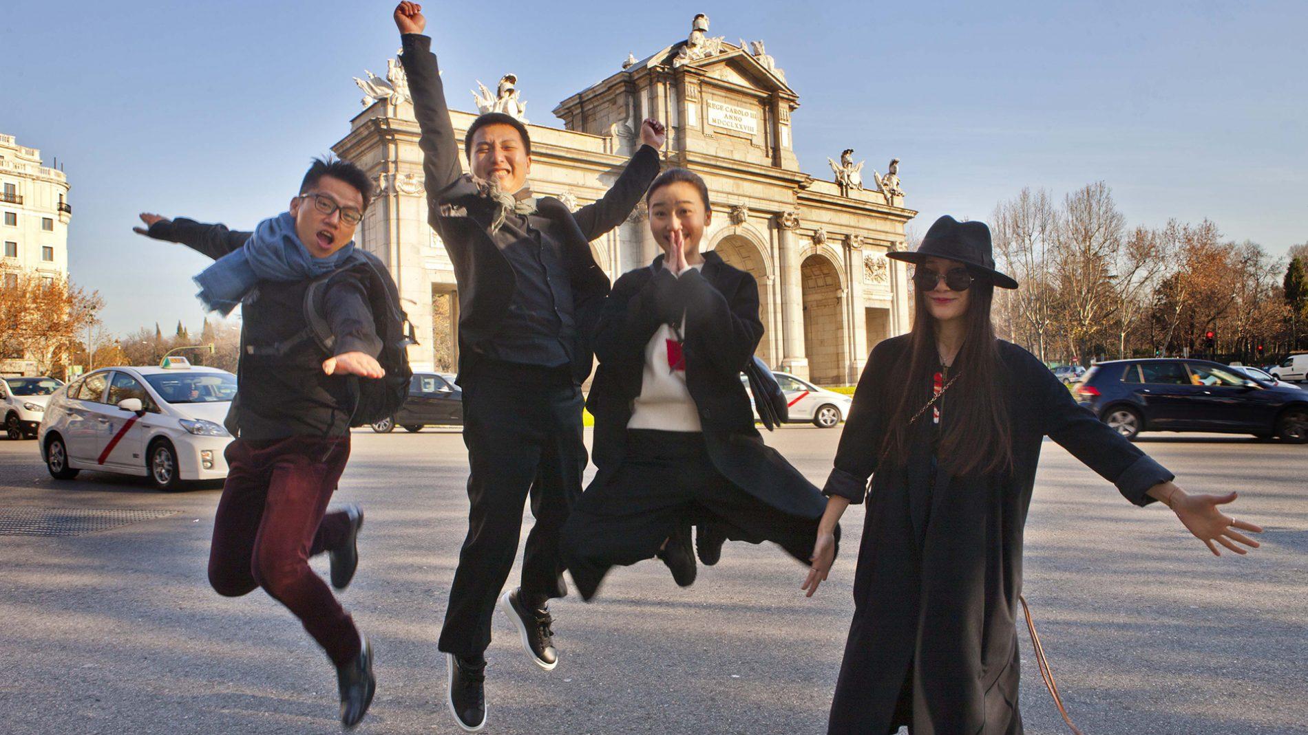 博主M.O.K、张金鹏、Tao Liang、Molly,春节于马德里