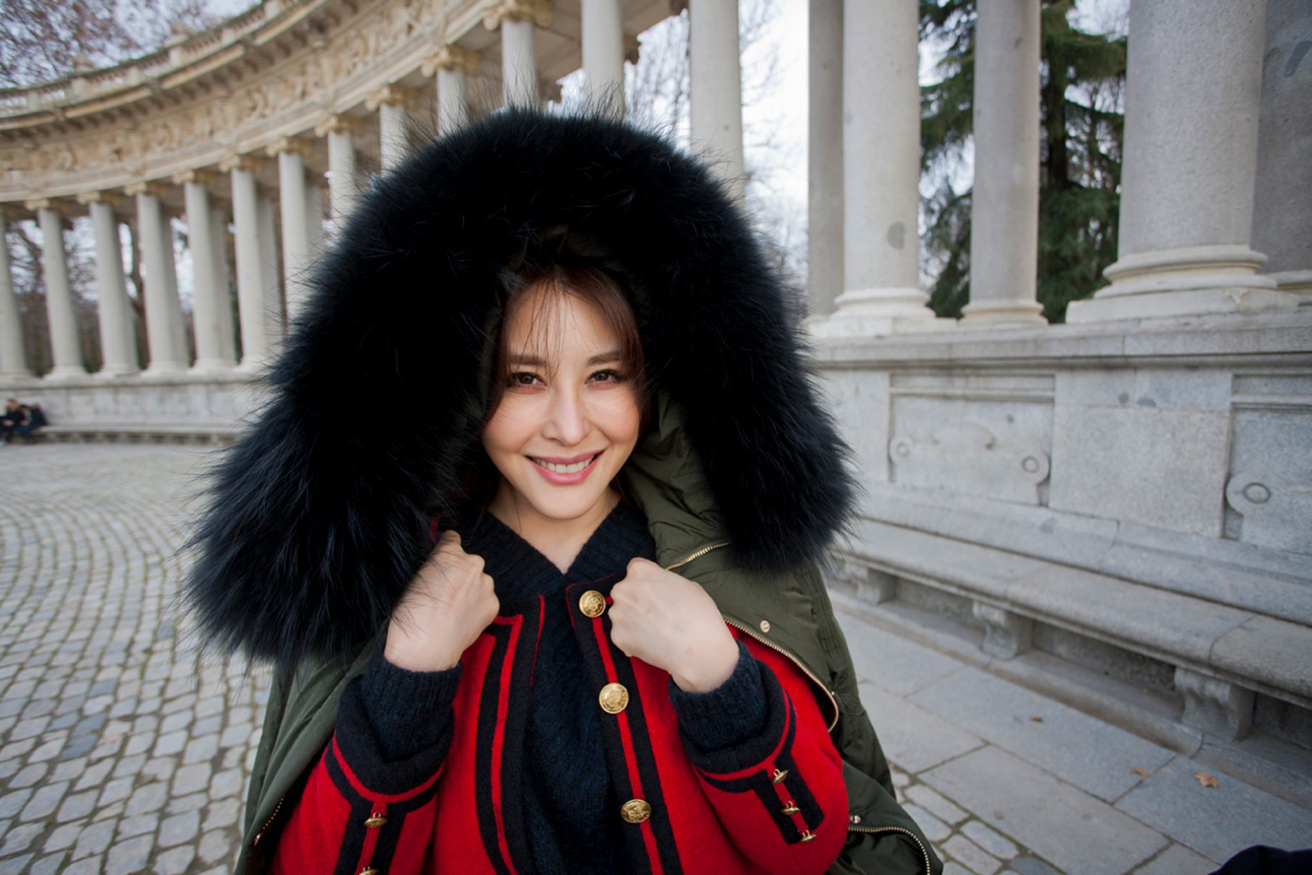 Actress Crystal Mu Chinese New Year Retiro Park Madrid