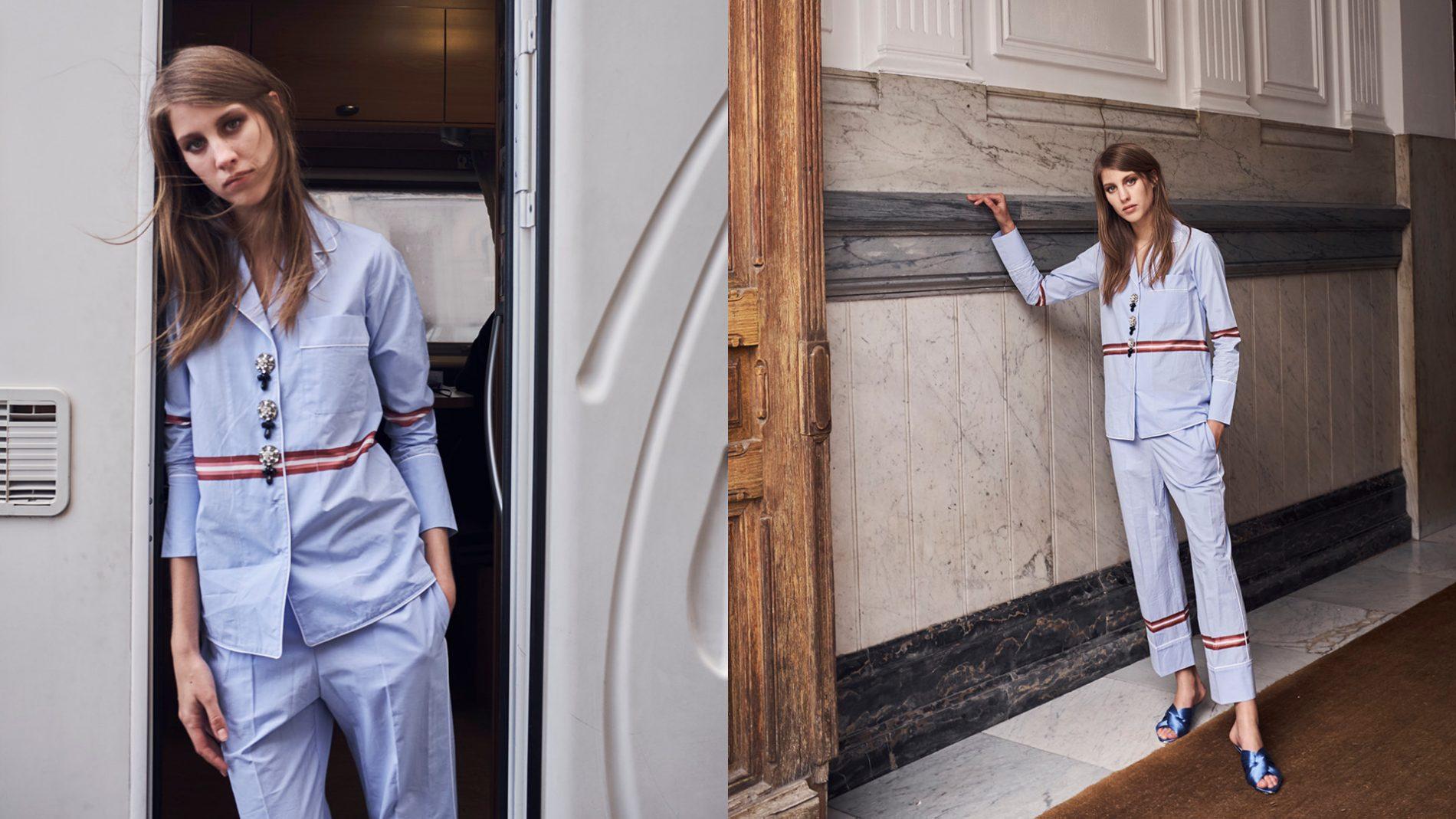 El Corte Inglés Ready-To-Wear N21 Blue Pajama Set, Shoes