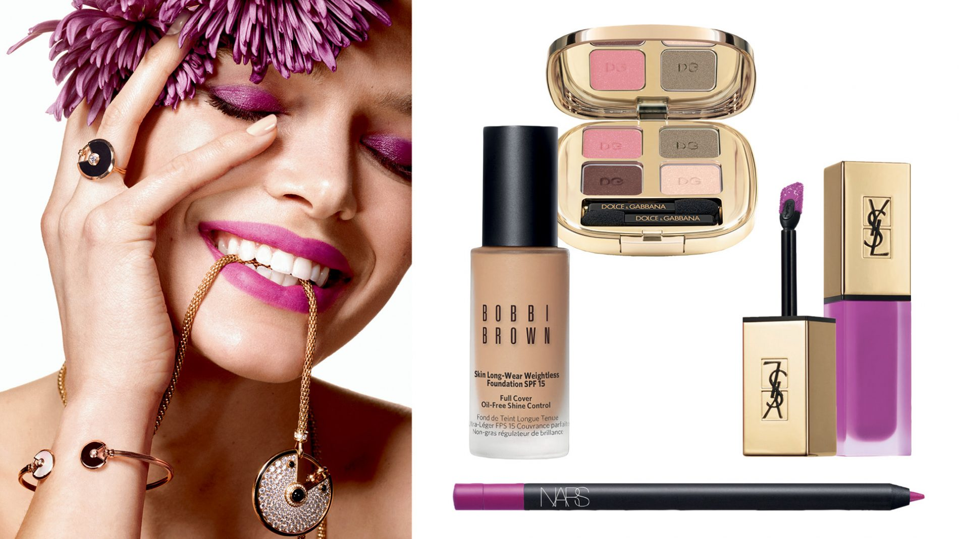 El Corte Inglés Beauty Makeup Jewelry Cartier Dolce & Gabbana YSL Nars Bobbi Brown