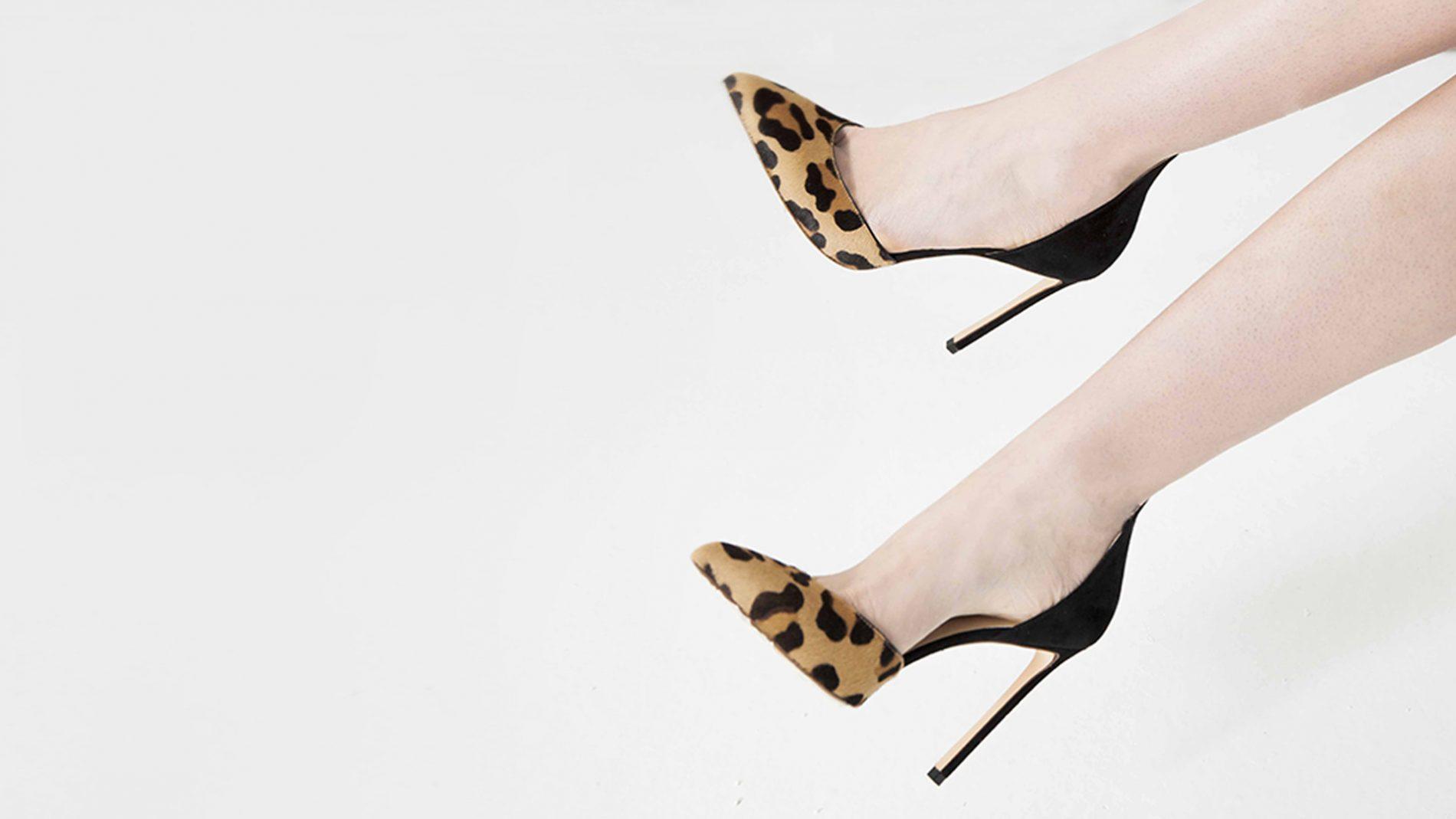 El Corte Inglés Diseñador Zapatos Francesco Russo Print Leopardo