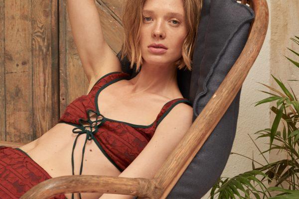 英格列斯设计师品牌泳衣,红色比基尼:Roseanna