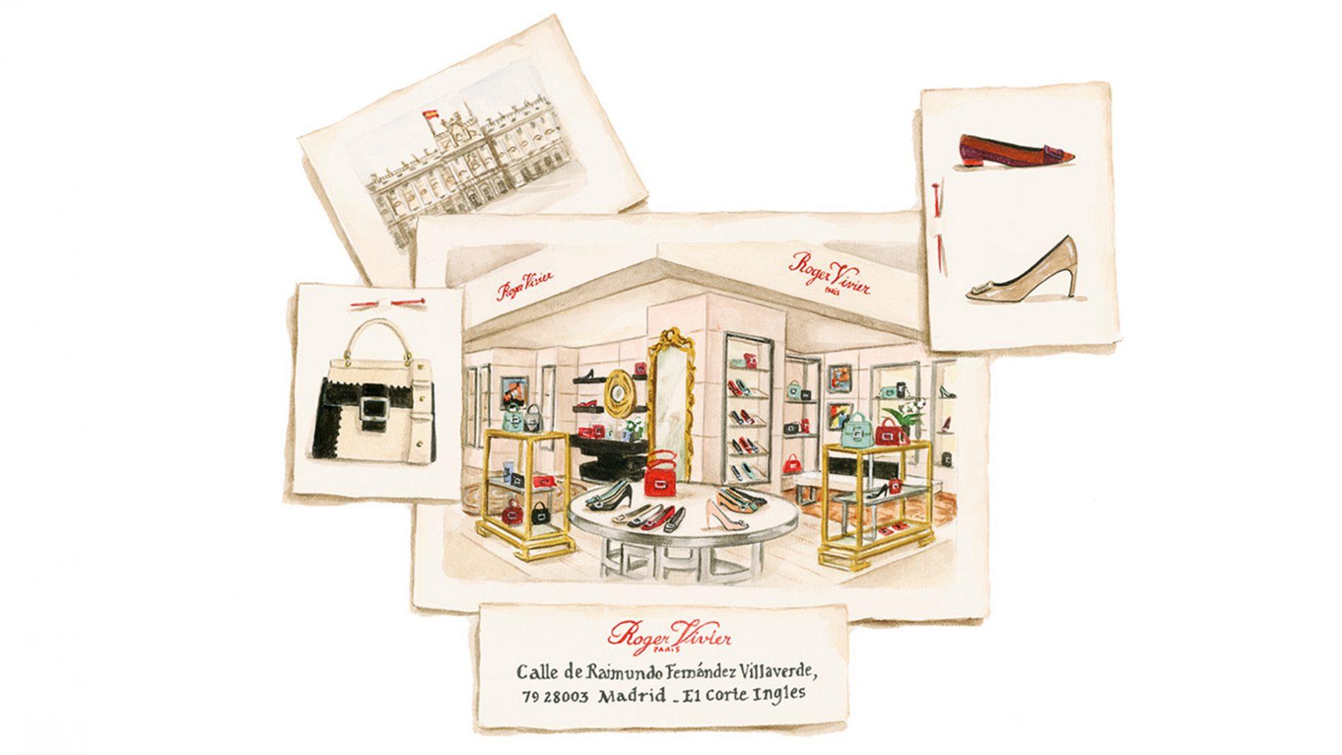 El Corte Inglés Designer Shoes Handbags Roger Vivier Shop-in-Shop