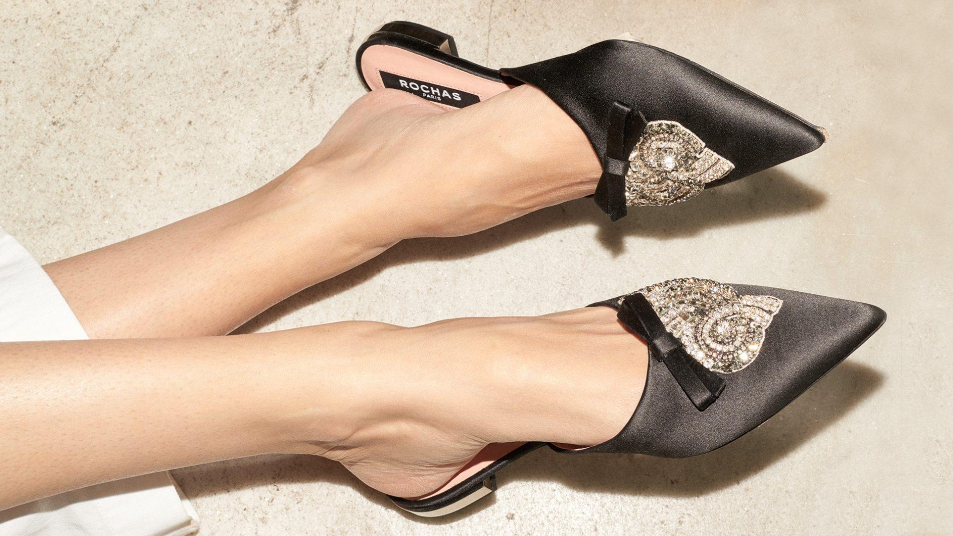 El Corte Inglés Designer Shoes Rochas Mules