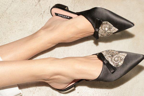 El Corte Inglés Diseñador Zapatos Rochas Mules