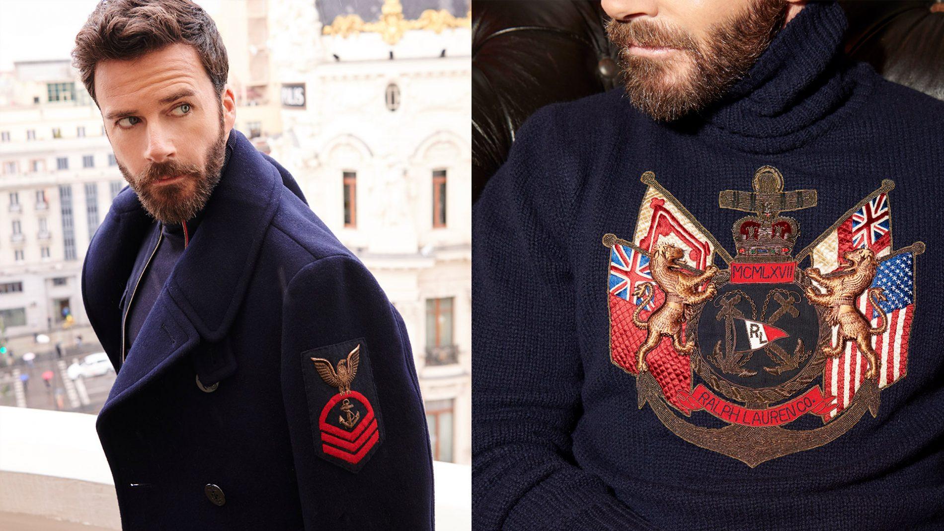 El Corte Inglés Menswear Ralph Lauren Purple Label Outerwear Pea Coat