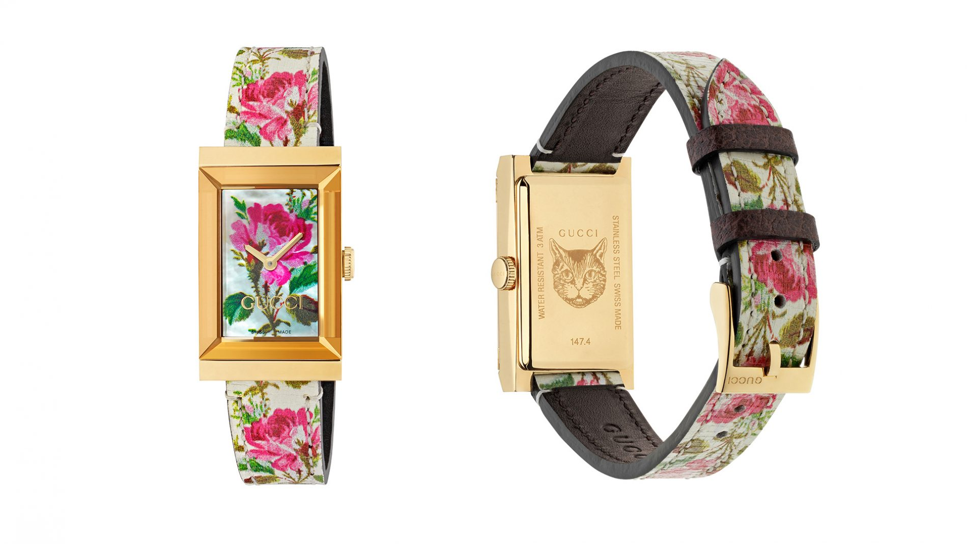 El Corte Inglés Watch Luxury Gucci Pink Floral Print