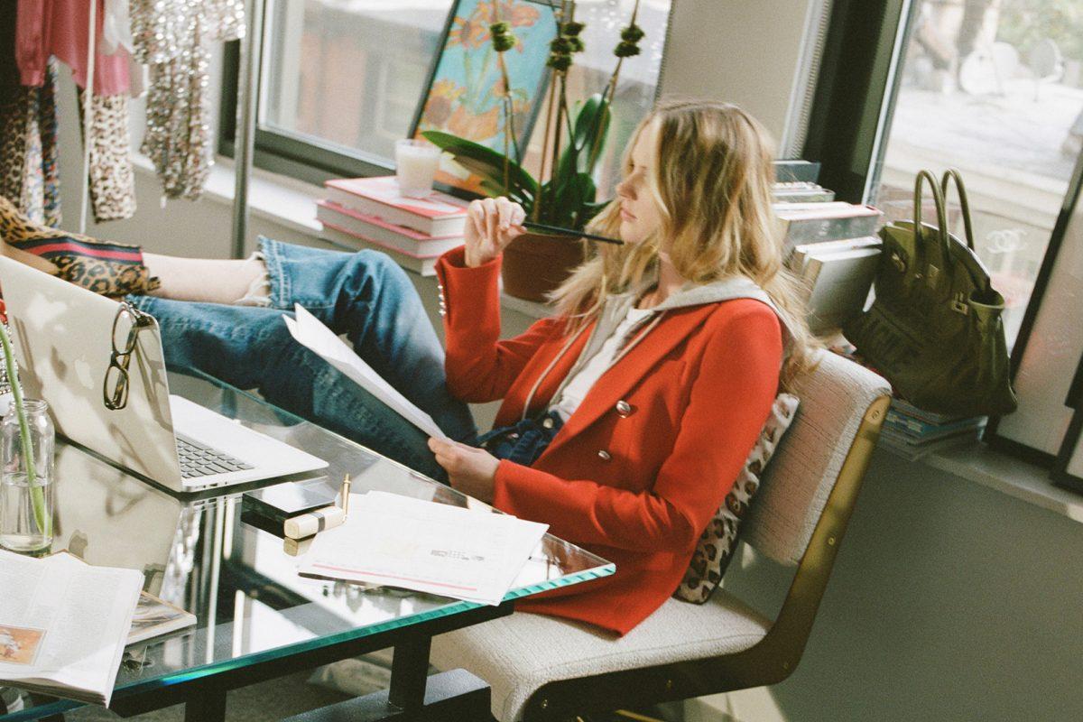 El Corte Inglés Designer Ready-to-Wear Veronica Beard Red Jacket