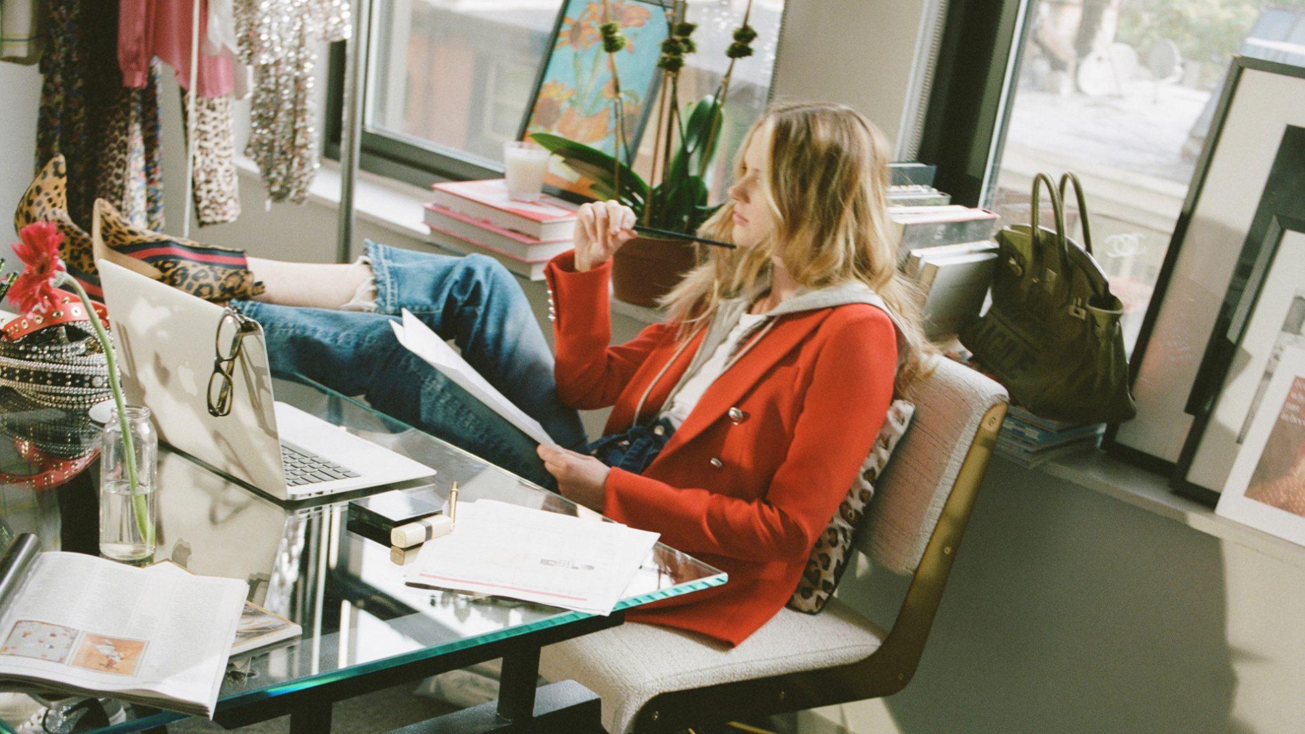 El Corte Inglés Diseñador Ready-to-Wear Veronica Beard Chaqueta Roja