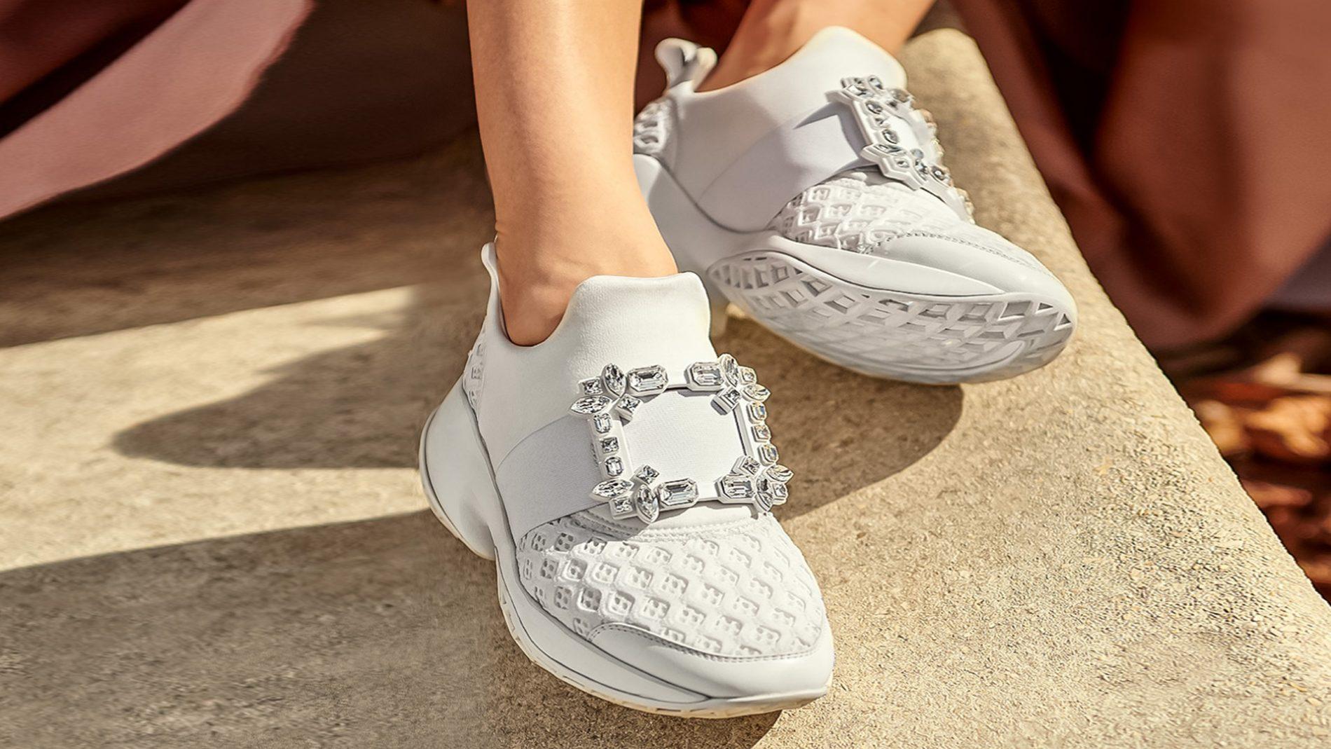 英格列斯设计师鞋履 Roger Vivier 白色运动鞋